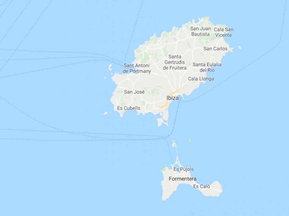 El accidente ocurrió entre las islas de Ibiza y Formentera