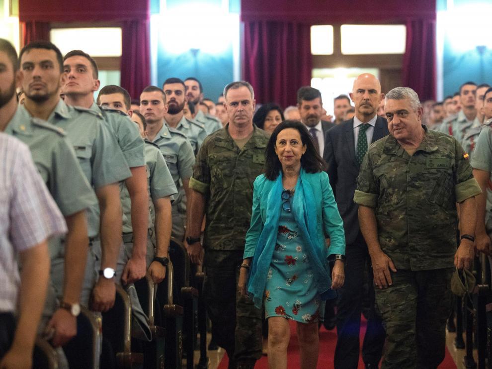 Margarita Robles, en la Academia General Militar de Zaragoza.