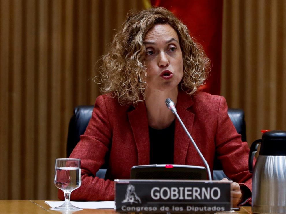 La ministra de Política Territorial y Función Pública, Meritxell Batet, en rueda de prensa