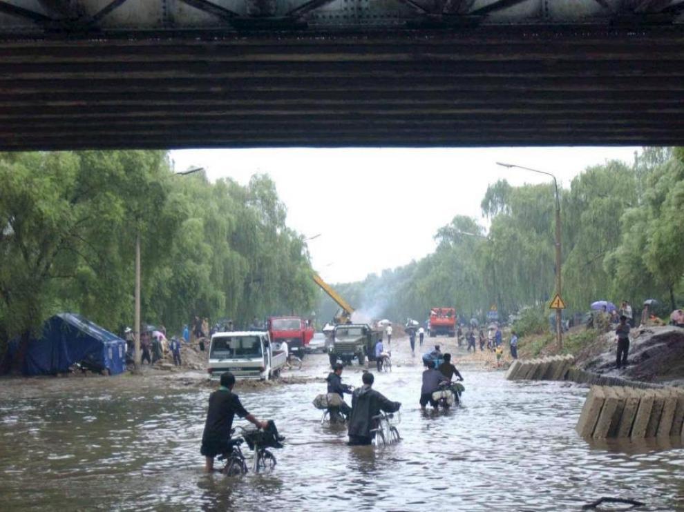 Miles de personas han perdido sus hogares debido a las fuertes lluvias que afectan a Corea del Norte.