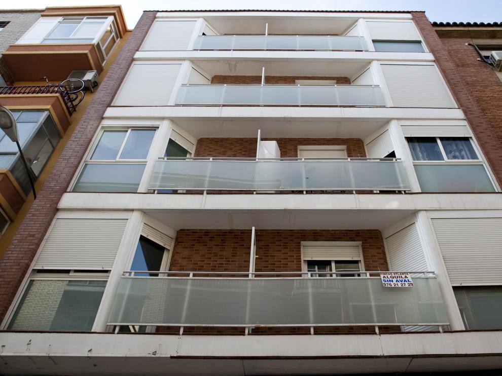 Fachada de una vivienda en Zaragoza.