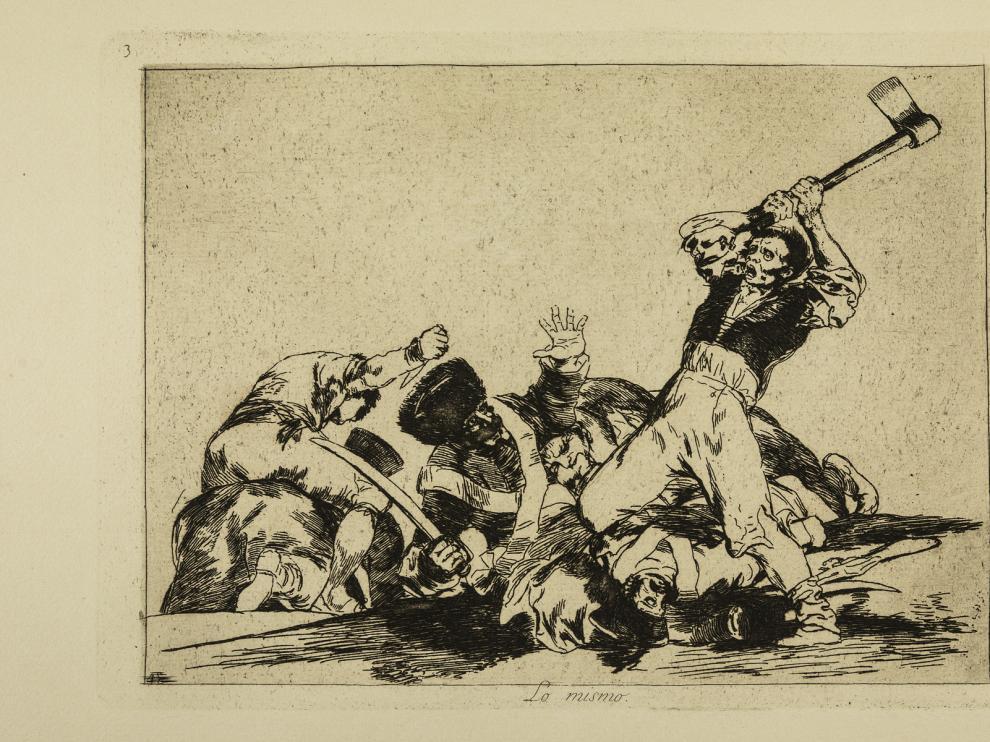 El grabado 'Lo mismo', obra de Francisco de Goya.