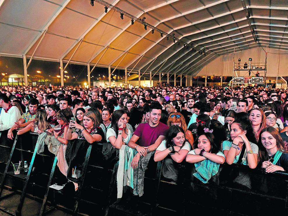Concierto de Melendi en el Parking Norte durante las fiestas del Pilar de 2017.