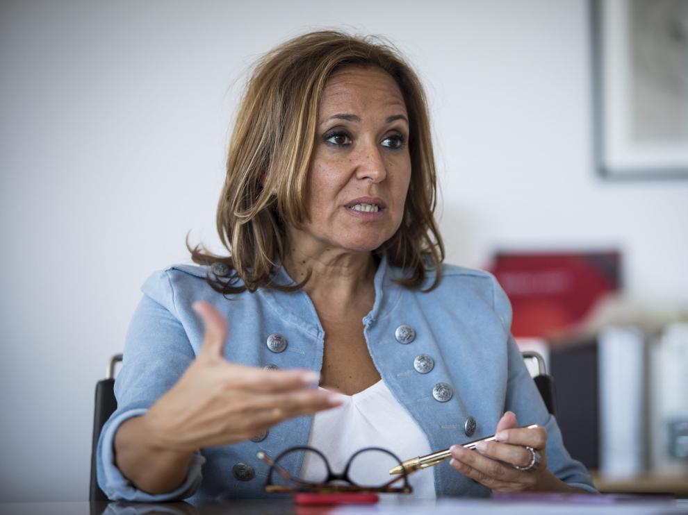 La consejera de Educación, Cultura y Deporte del Gobierno de Aragón, Mayte Pérez.
