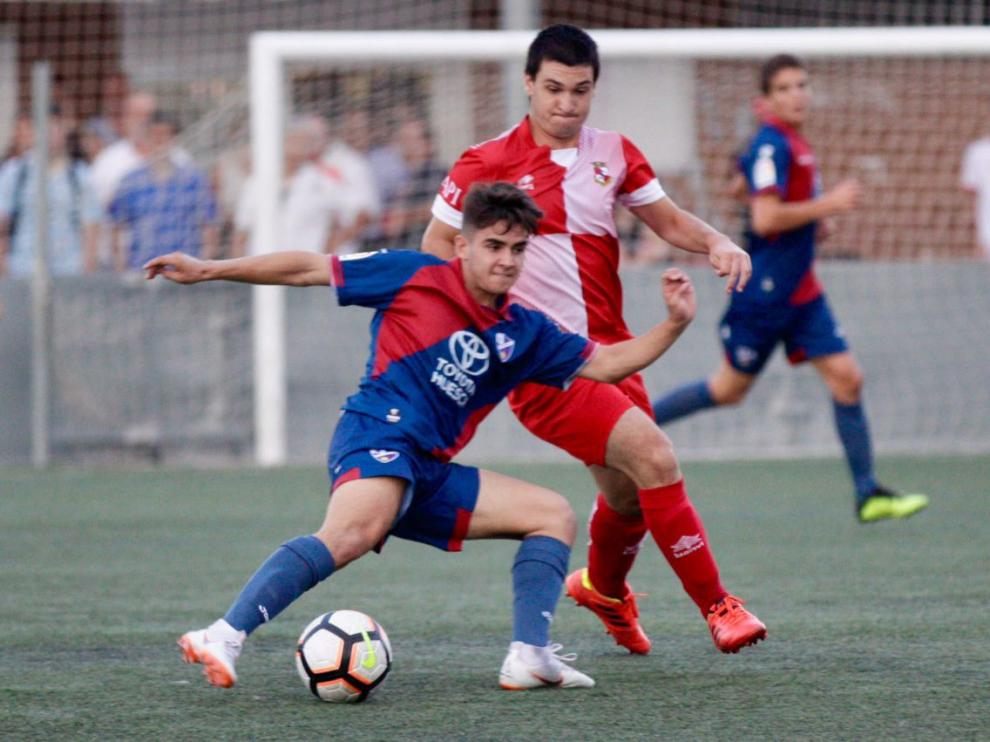 Imagen del partido disputado entre el Actur y el Huesca