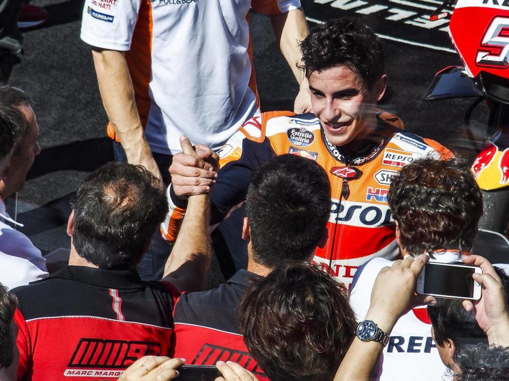 Marc Márquez, este domingo tras terminar segundo en San Marino.