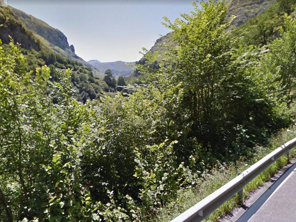 Imagen del río Miera, a su paso por el término municipal de este municipio, en Cantabria.