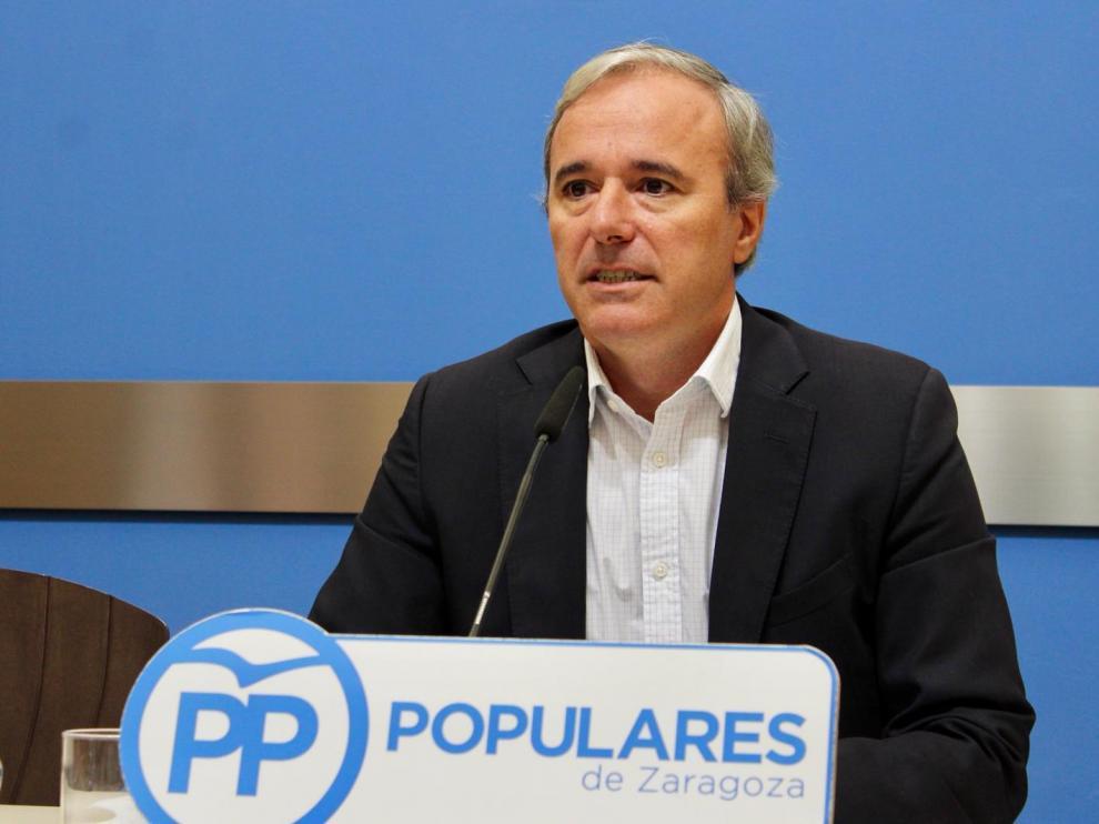 El portavoz municipal del PP, Jorge Azcón.