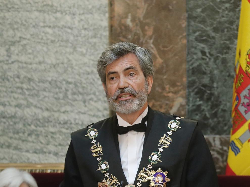 El presidente del Tribunal Supremo y del CGPJ, Carlos Lesmes.
