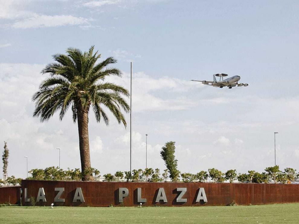 El avión AWASCS de la OTAN llega esta tarde a las 17.25 a la Base Aérea de Zaragoza.