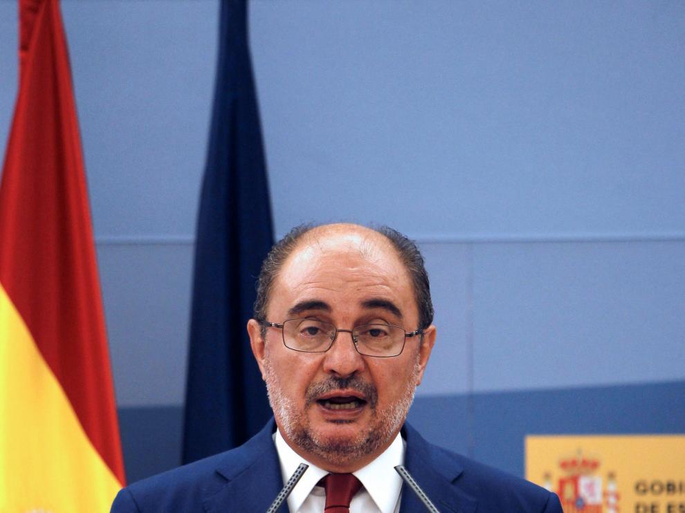 El presidente de Aragón, Javier Lambán, en imagen de archivo.