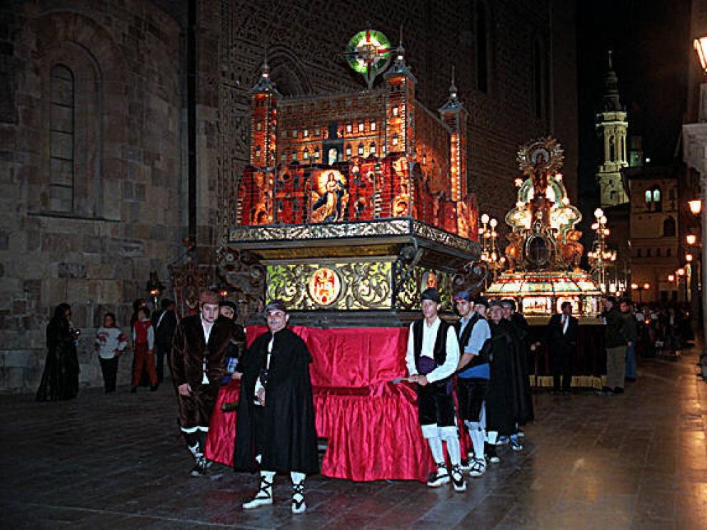 El Rosario de Cristal, uno de los actos más emblemáticos de las fiestas, fue uno de los muchos que no pudieron celebrarse en los Pilares de 1918.