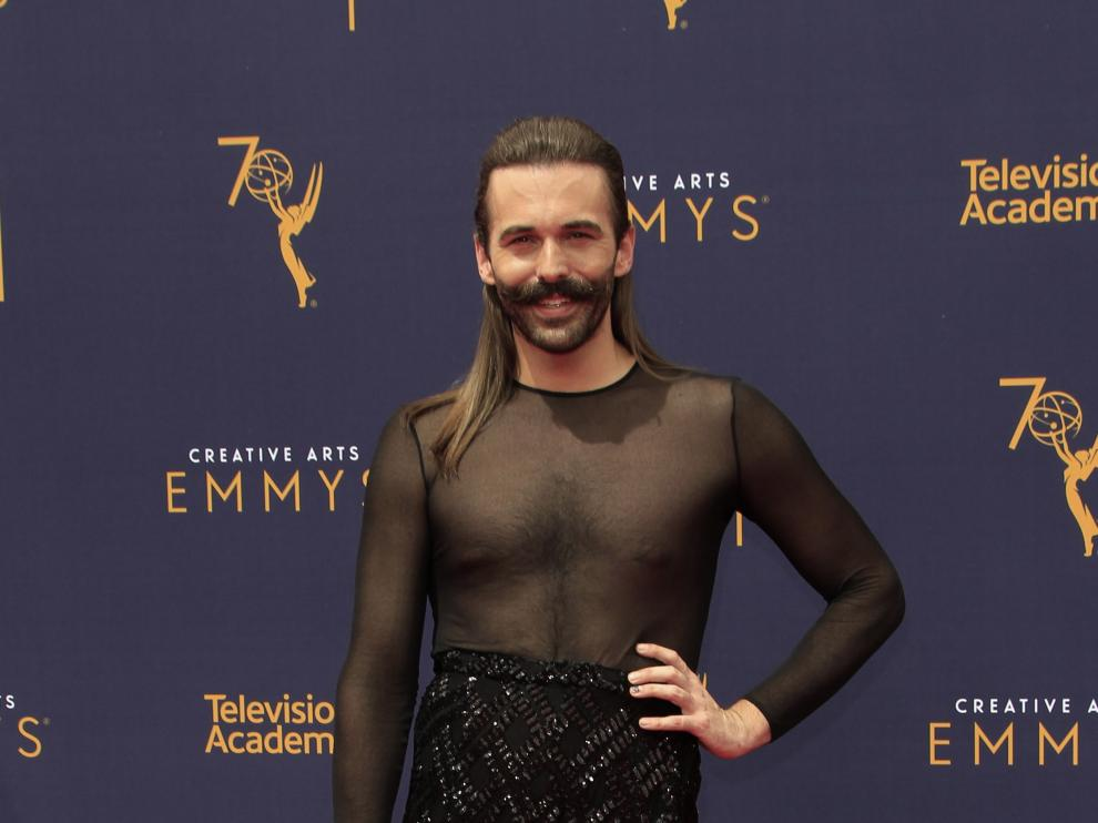Con barba, tacones y luciendo pierna: el look de Jonathan Van Ness que ha causado sensación en los  Emmy