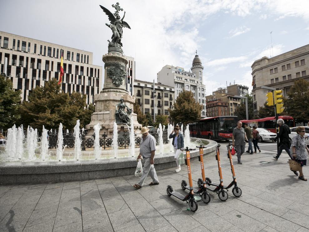 Los patinetes eléctricos llegan a Zaragoza