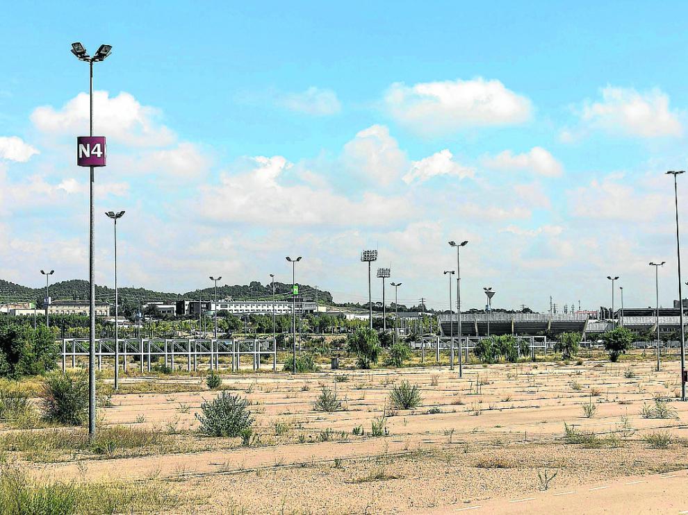 Los terrenos del Parking Norte, en el Actur.