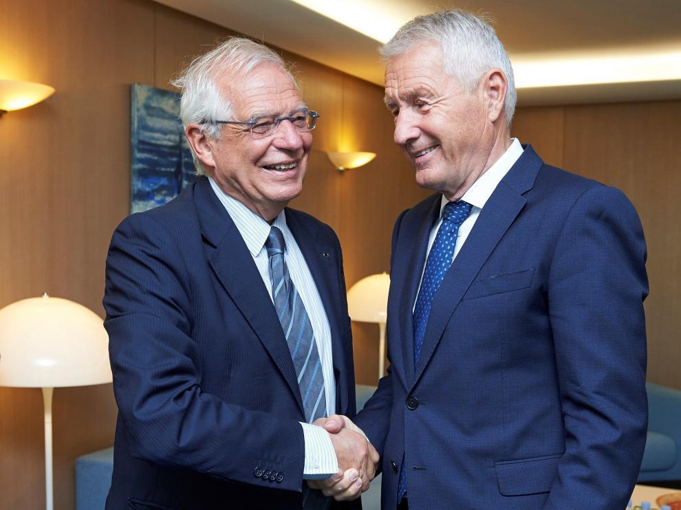 El secretario general del Consejo de Europa y el ministro de Asuntos Exterior Josep Borrell.