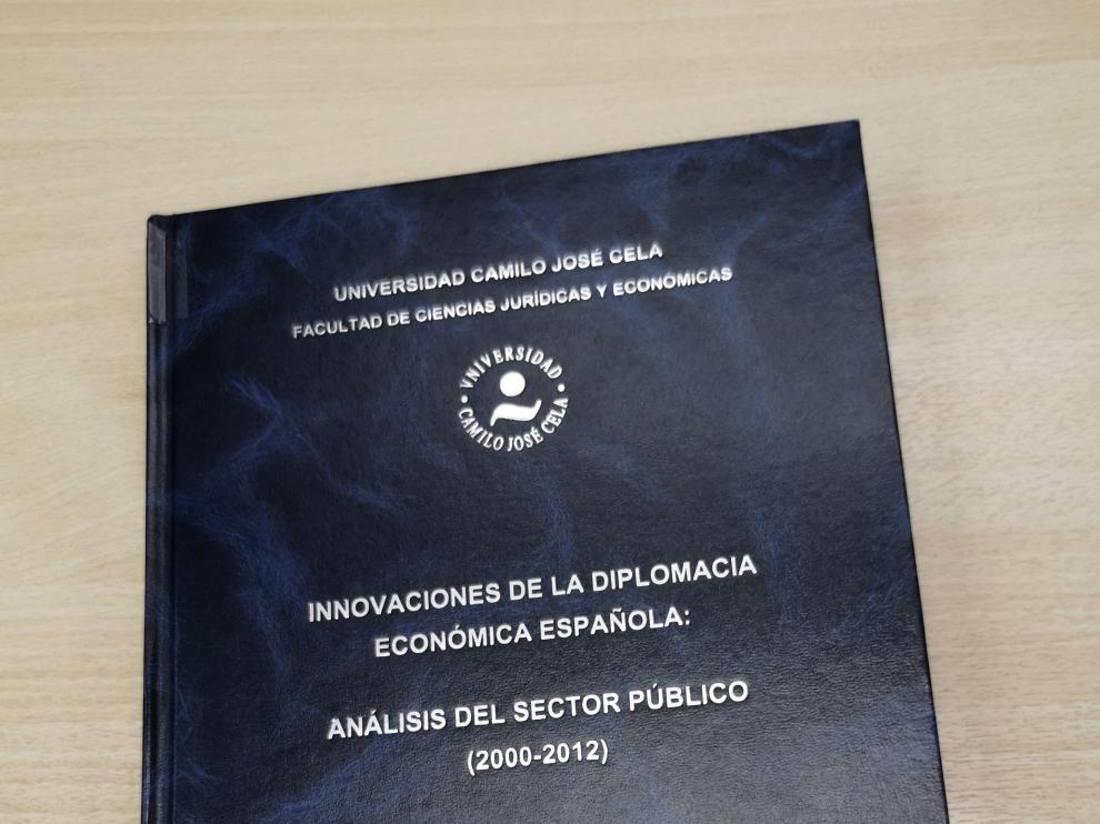 Portada de la tesis doctoral de Pedro Sánchez, que se encuentra en la Universidad Camilo José Cela.