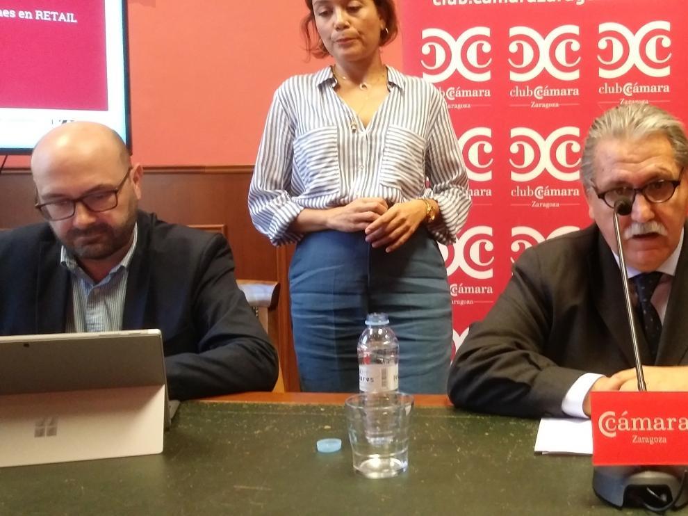 Ramón Añaños y Manuel Teruel, en rueda de prensa.