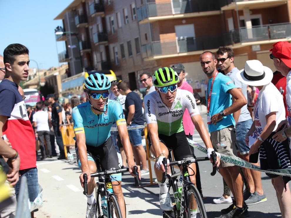 La Vuelta España 2018 en Ejea de los Caballeros.