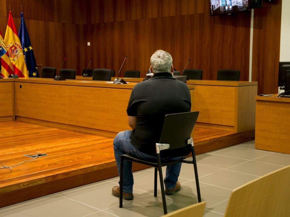 Sergio Díez Saldaña, este jueves, en la Audiencia de Zaragoza.