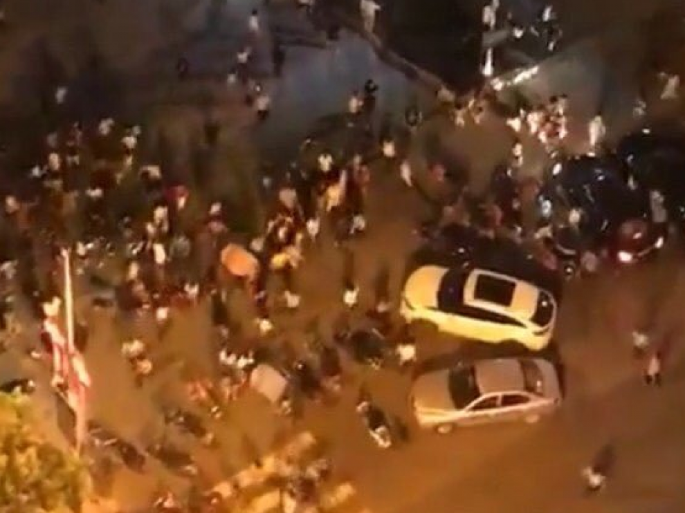 La plaza de Hengyang momentos después de que se produjera el ataque.