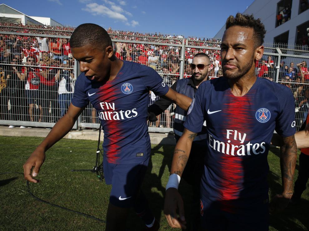 Mbappé y Neymar, en un reciente partido del PSG