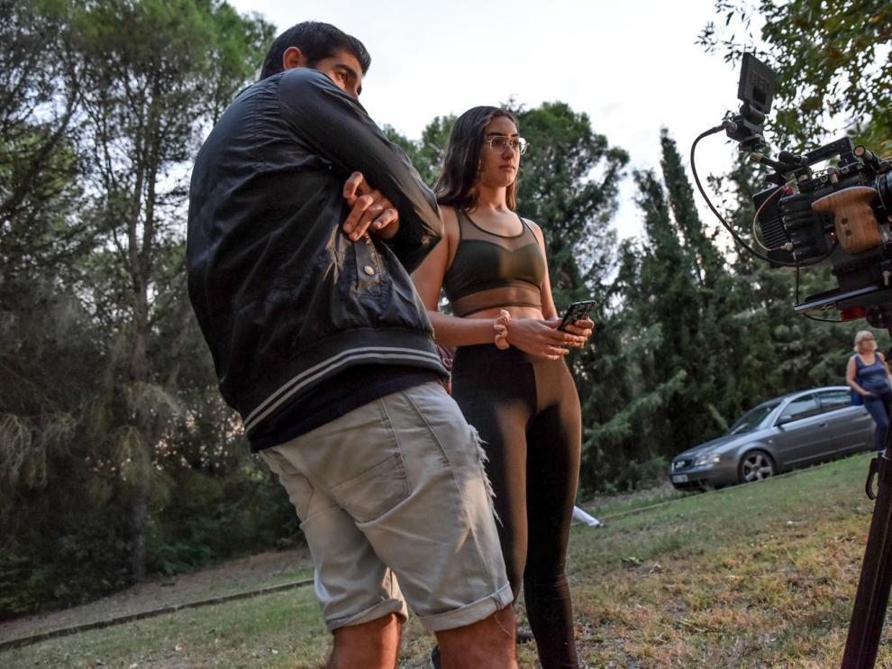 Laura Torrijos, durante la realización del cortometraje 'Había una vez'.