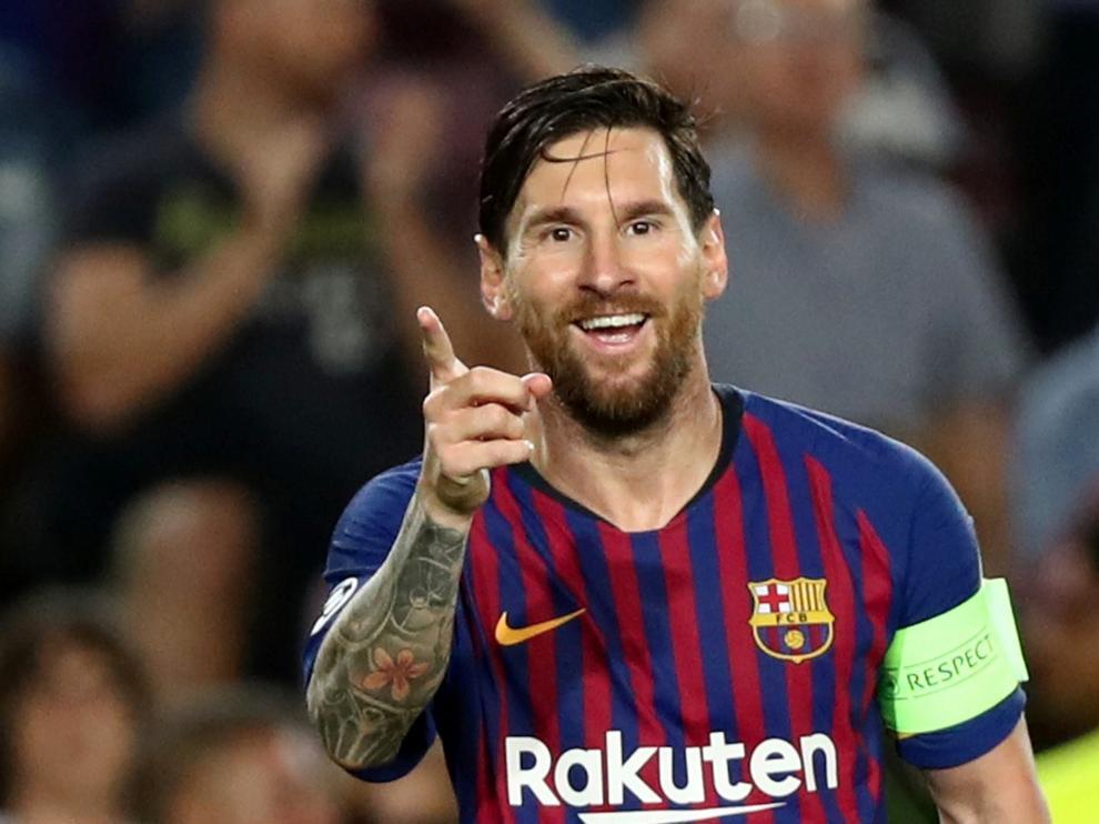 Leo Messi, protagonista del partido, marcó un hat-trick.