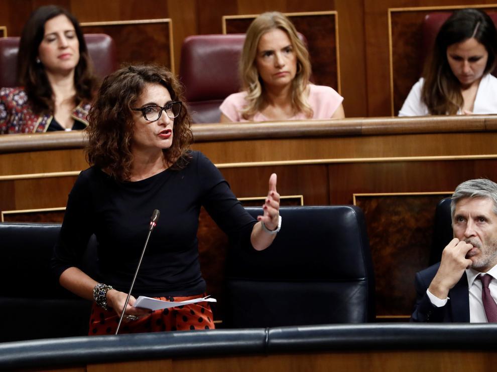 La ministra de Hacienda María Jesús Montero.