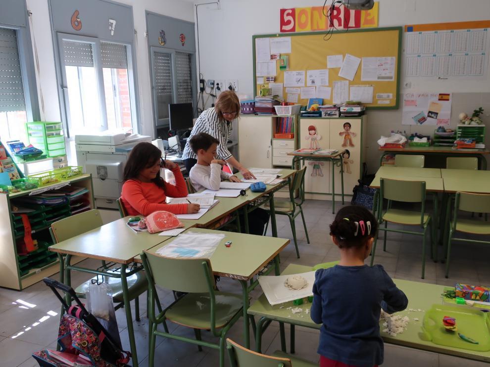 Escuela de Alba del Campo, con tres alumnos.