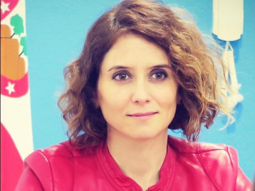 Isabel Díaz Ayuso, portavoz del PP en la Comunidad de Madrid.