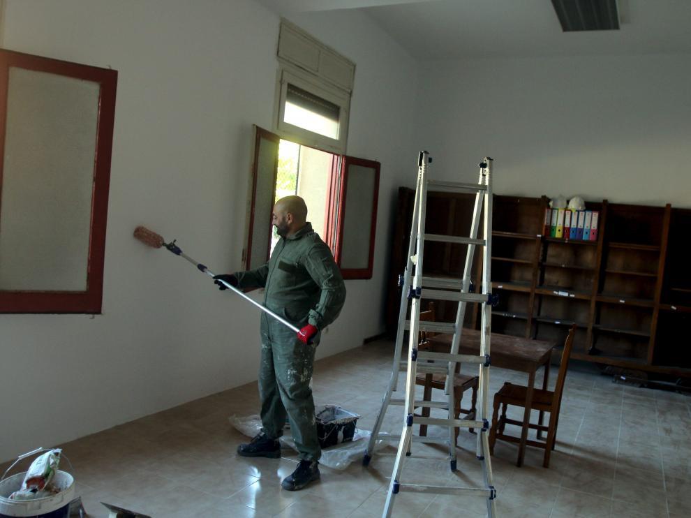Los trabajos de acondicionamiento del cuartel están en marcha