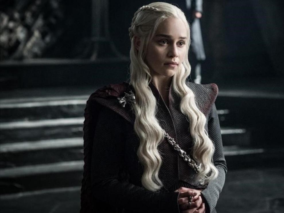 Escena de Daenerys Targaryen en 'Juego de Tronos'.