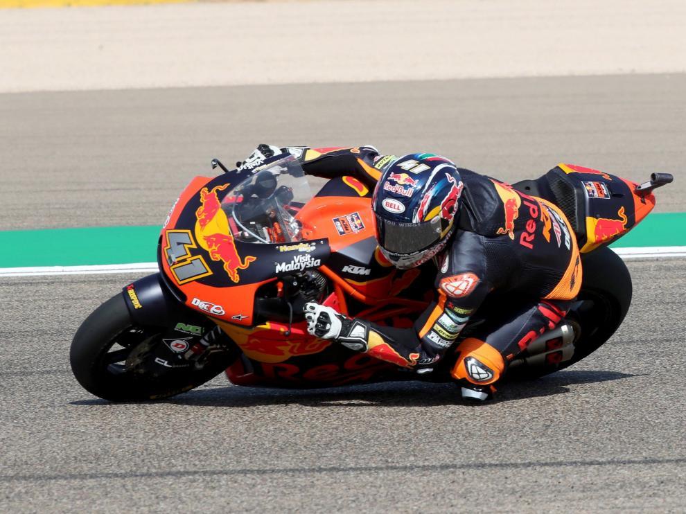 Brad Binder, el más rápido en la clasificación de Moto2 en Alcañiz.