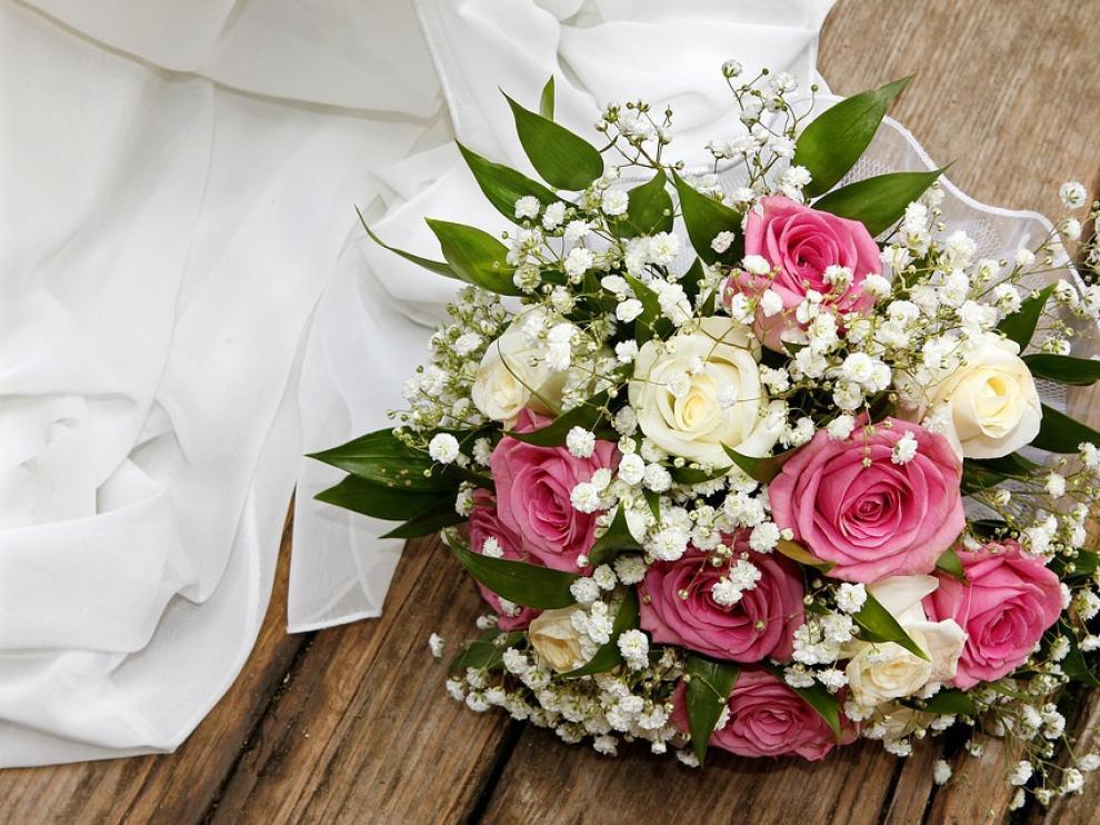 Ramo de flores de una boda.