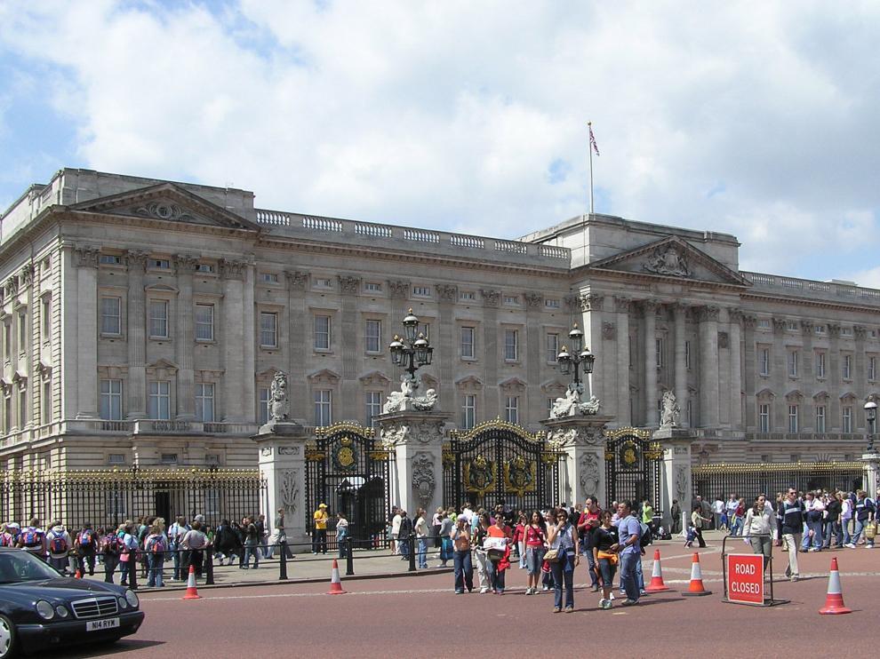Imagen del exterior del palacio de Buckingham.