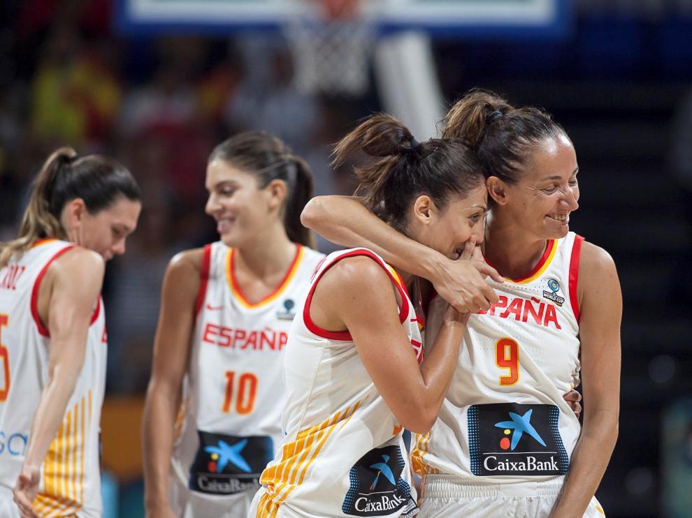 Jugadoras de la selección española de baloncesto femenino.