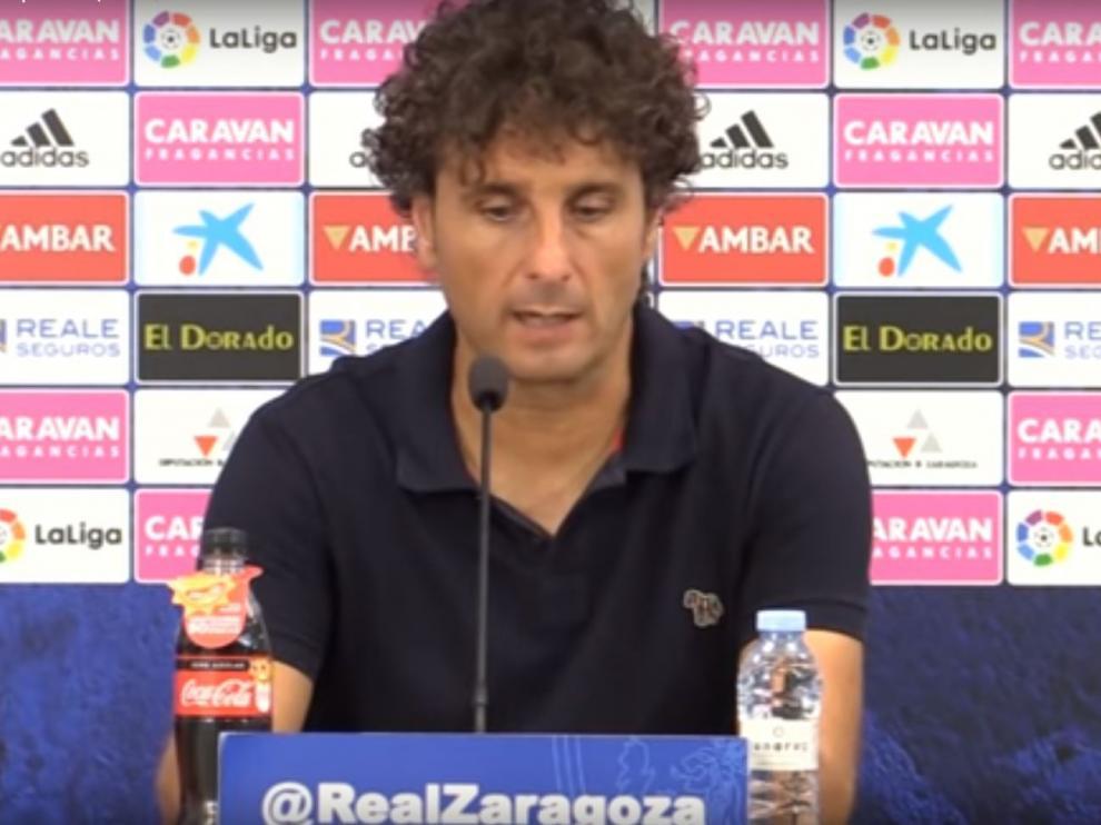 Imanol Idiakez, en la rueda de prensa del sábado tras perder 0-2 ante el Lugo.