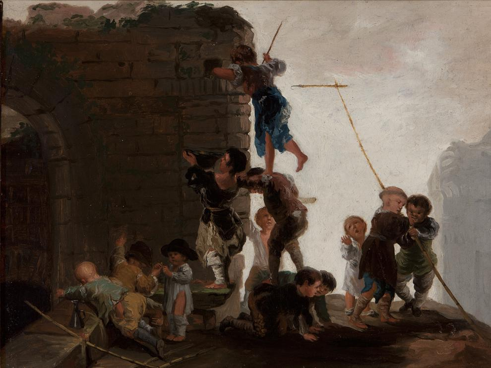 'Niños buscando nidos', una de las obras de Goya que formará parte de la exposición en el palacio de Sástago