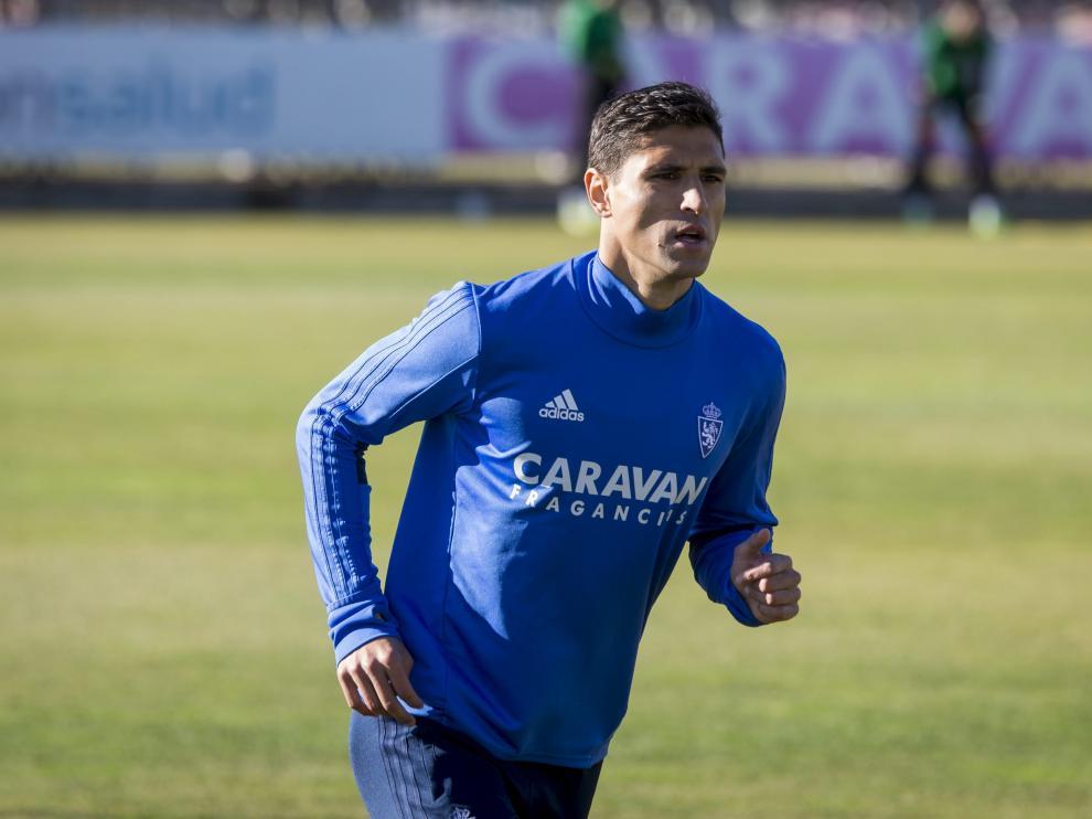 Grippo en un entrenamiento en la Ciudad Deportiva.