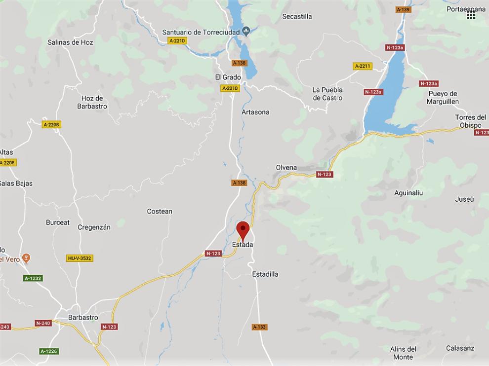 El accidente ha ocurrido en el pk 11.700 de la N-123, de Benabarre a Graus.