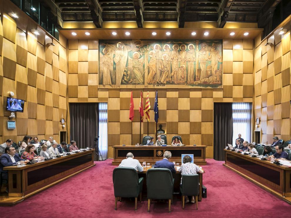 Pleno municipal del Ayuntamiento de Zaragoza.