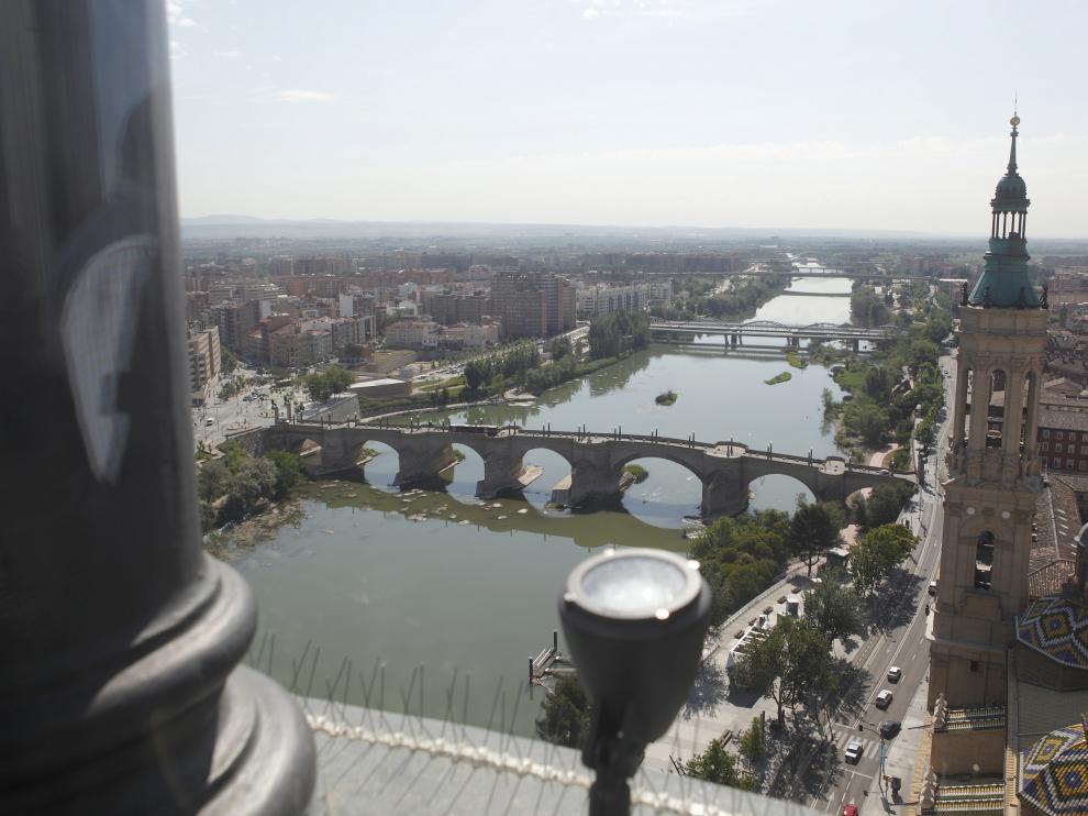 Vistas desde el ascensor del Pilar