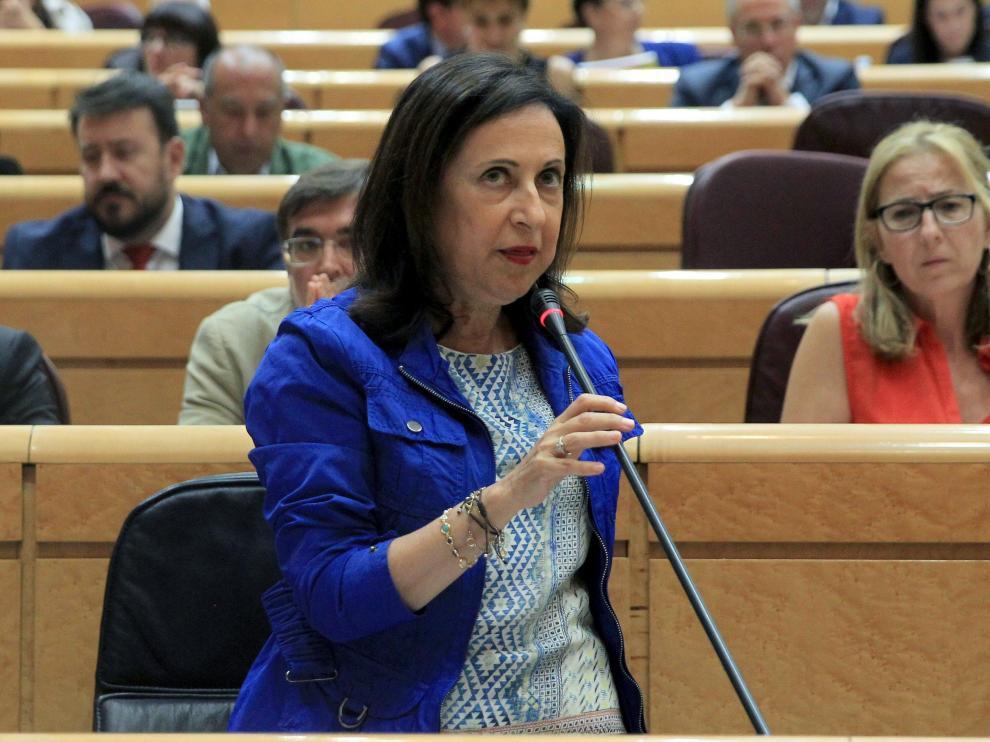 La ministra de Defensa, Margarita Robres, durante su intervención en el Congreso de los Diputados.