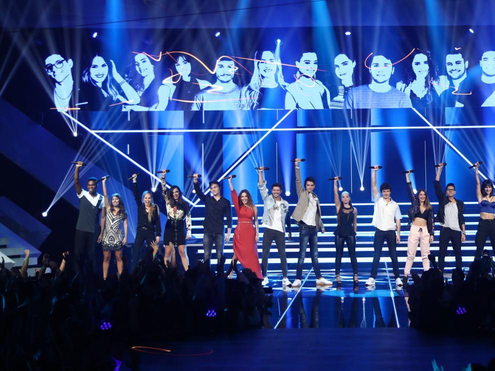 Imagen de la actuación grupal de la Gala 1 de OT 2018.