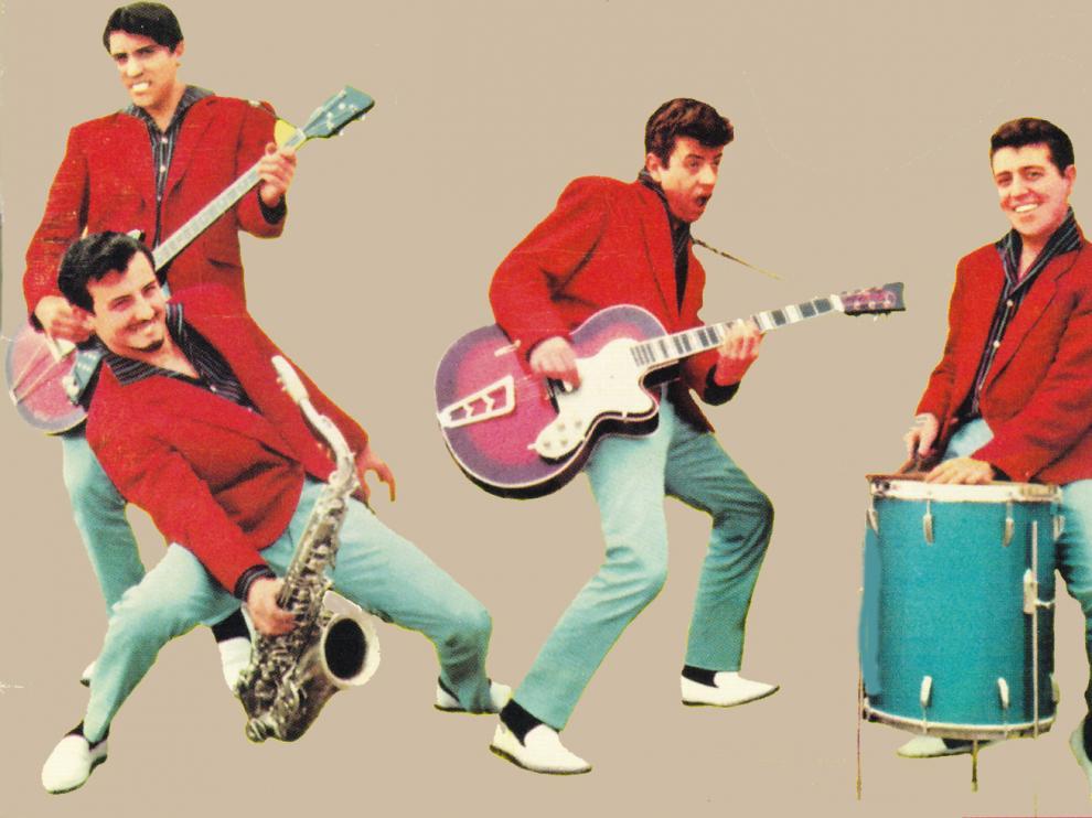 The Rocking Boys trasladaban su dinamismo juvenil y su adelantada vibración rocanrolera a las portadas de sus discos.