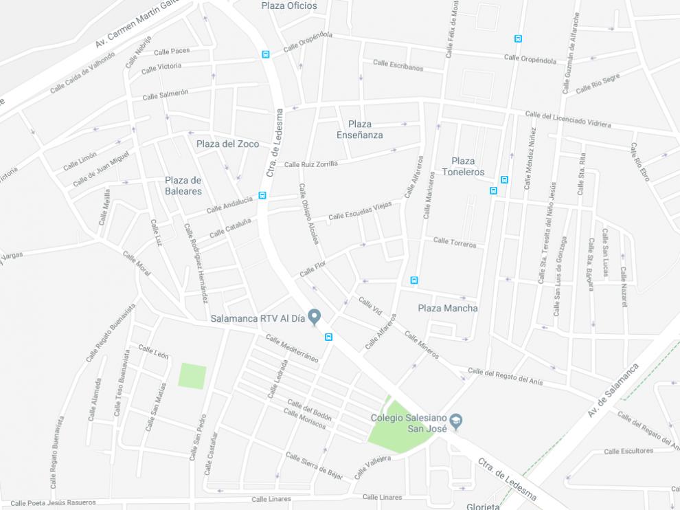 Zona aproximada de Salamanca donde se escondía el fugitivo.