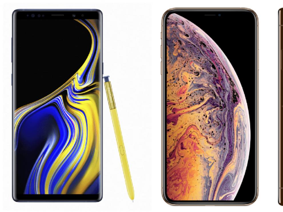El Note 9, el  iPhone XS Max y el Pocophone