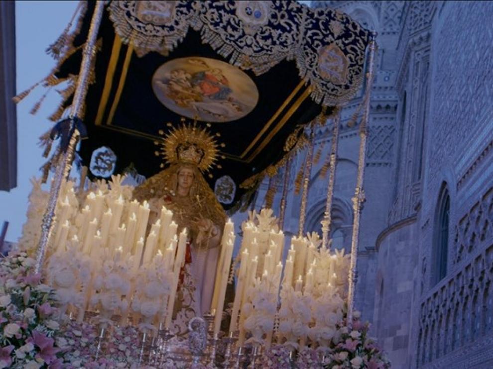 La Semana Santa aragonesa triunfa en Cannes con 'Inmortal'. Fotograma del cortometraje.