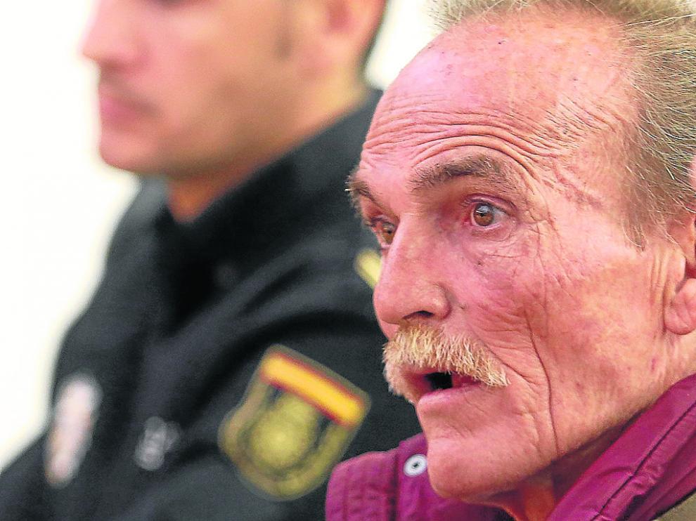Benito Ortiz Perea, en una foto de archivo durante el juicio por el atraco a una armería de Huesca.